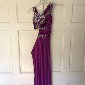 Dresses & Skirts - Purple prom gown with tastefully open side